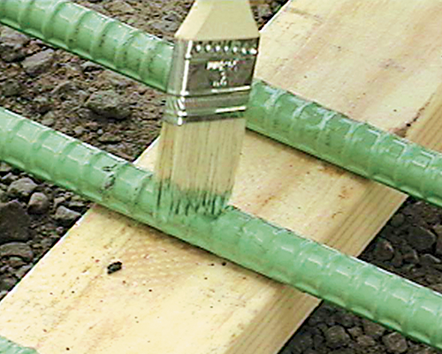Field patching Epoxy rebar