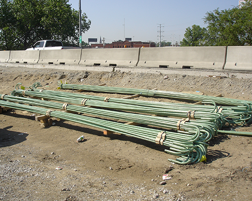 Outside storage of Epoxy rebar